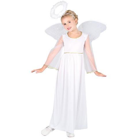 Heavenly Bright Angel Girls Fancy Dress Costume