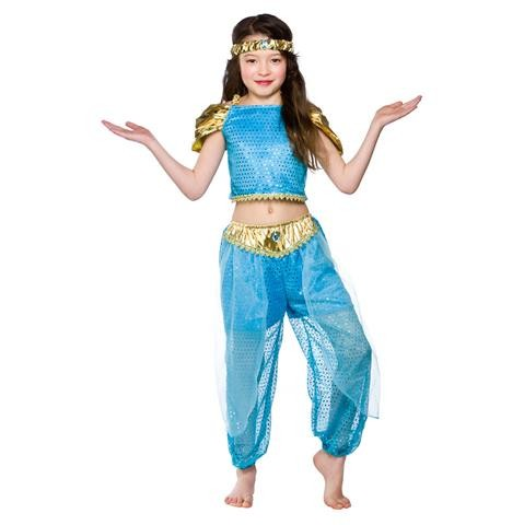 Girls Arabian Princess Costume Fancy Dress Up Party Halloween Outfit Kids