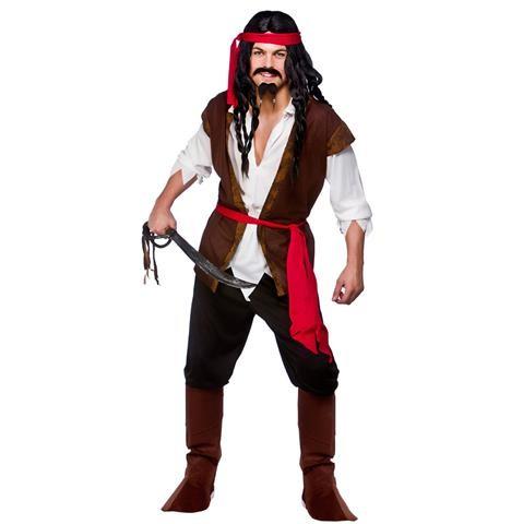 Caribbean Pirate Sea Ocean Parrot Boat Fancy Dress Costume