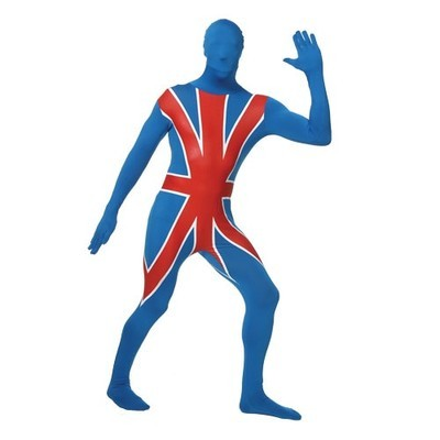 OLYMPIC SKINZ BRITISH UNION JACK LYCRA STAG NIGHT SUIT GB ALL SIZES SALE !