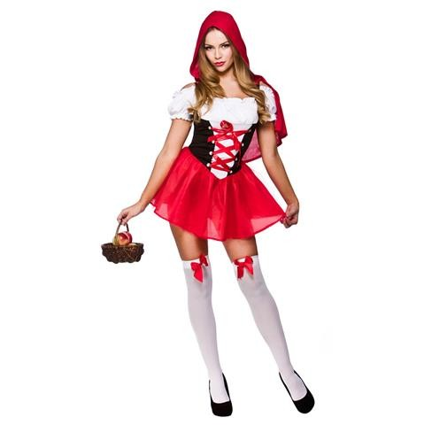 Red Hot Little Riding Hood Adult Fancy Dress Book Costume