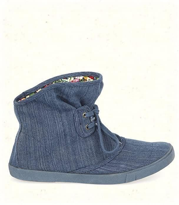"Blowfish Harper Fabric Navy Denim UK 4"" Women's Boots"