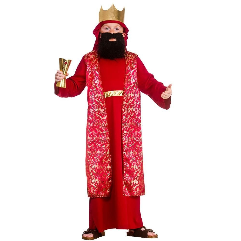 Wise Man Red Large UK 8 -10 Children Fancy Dress Costume