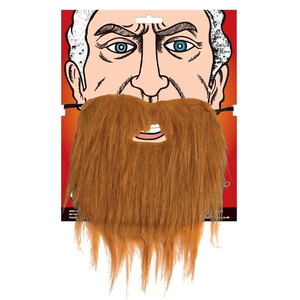 Men's Beard Brown One Size Adult Fancy Dress Accessory