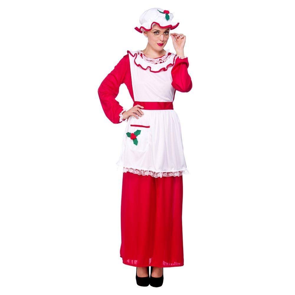 Mrs Santa Clause Plus Size Adult Fancy Dress Costume