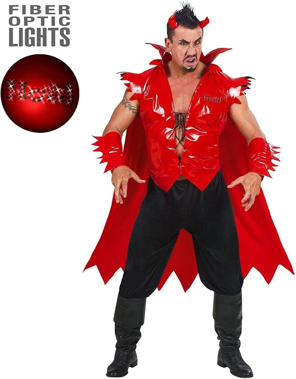 Devil w/ Fiber Optics XSmall Adult Men Fancy Dress Costume