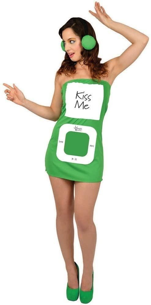 Morph Suit Personalisable Mp3 Player Green Small Adult Fancy Dress Costume