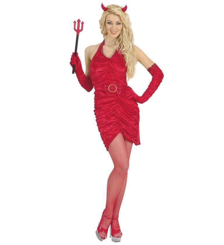 Devil Lady Set Extra Large UK 18-20 Red Adult Fancy Dress Costume
