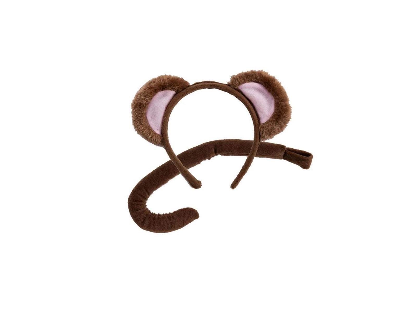 Monkey Eat & Tail Set One Size Adult Fancy Dress Accessory