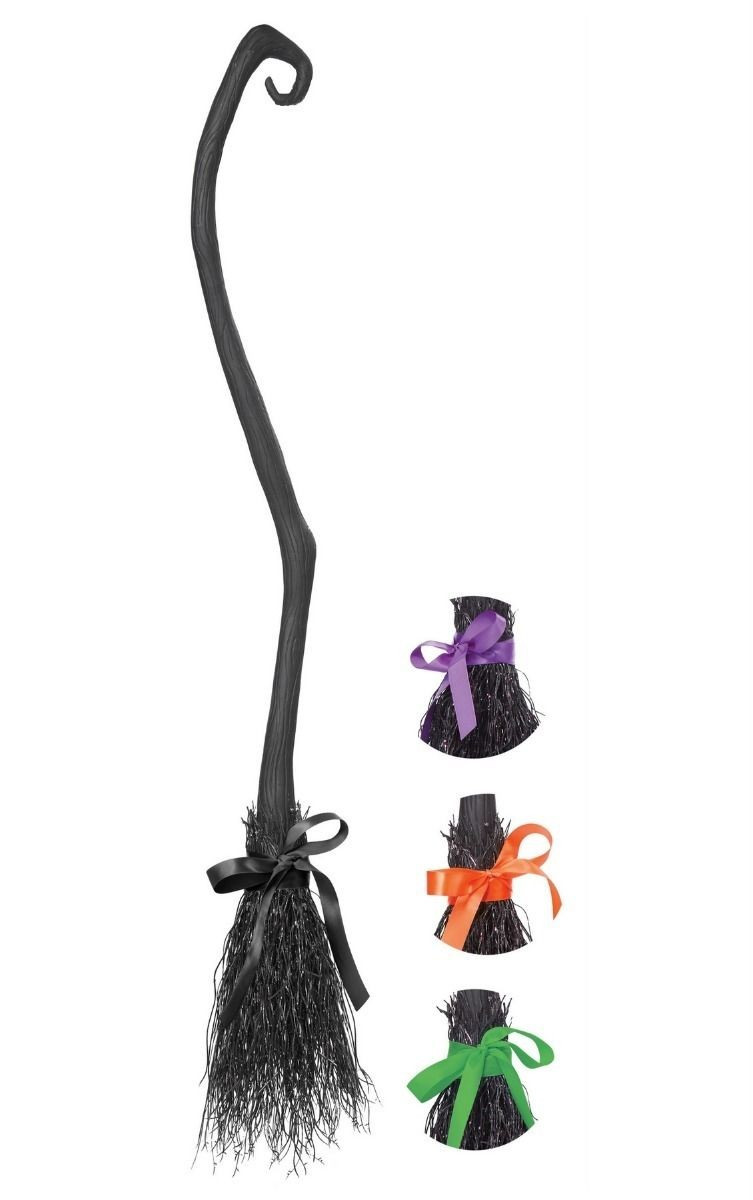 Witch Broom - 4 Ribbons interchangeable Halloween Fancy Dress