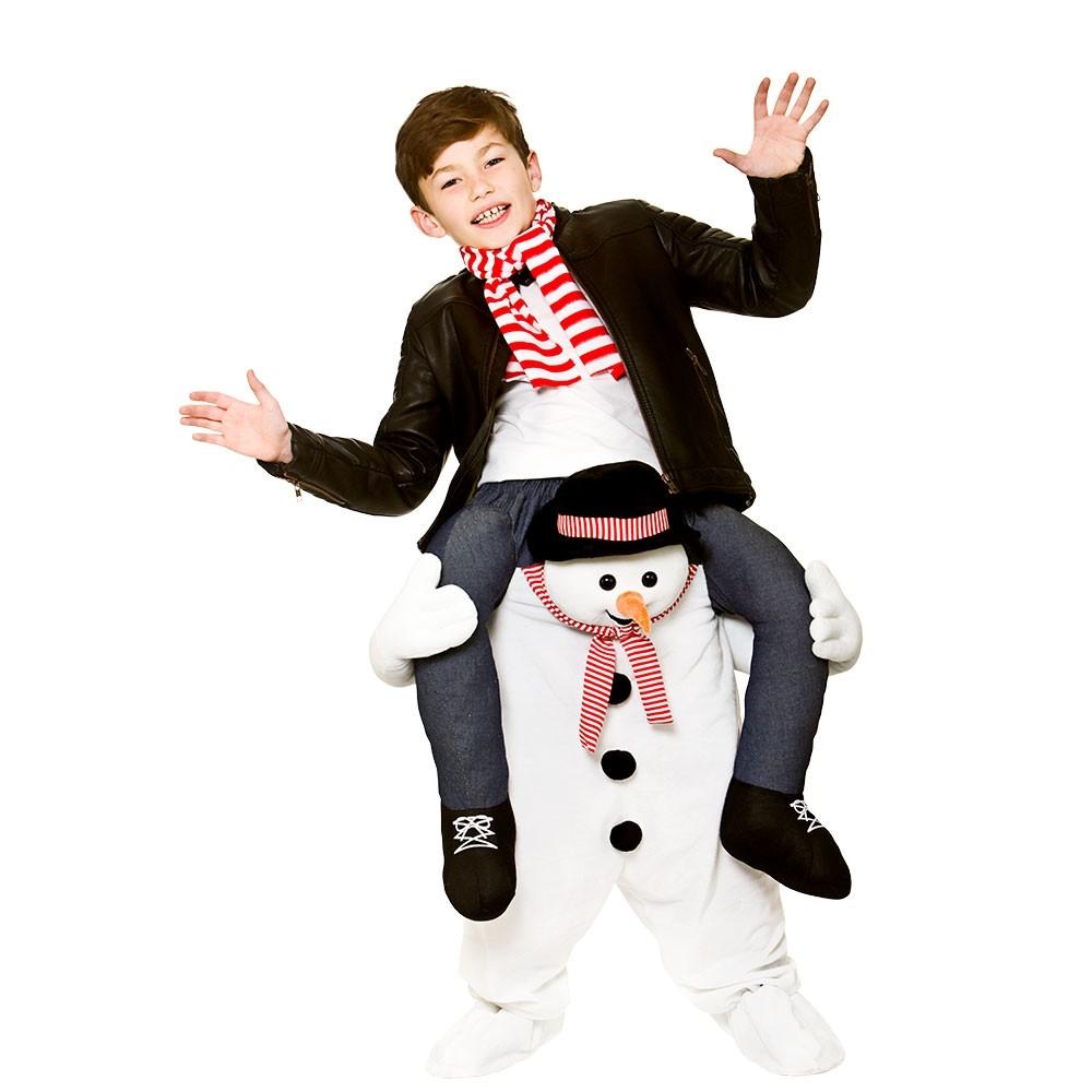 Carry Me® Snowman Kids Unisex Fancy Dress Costume (8-10years)
