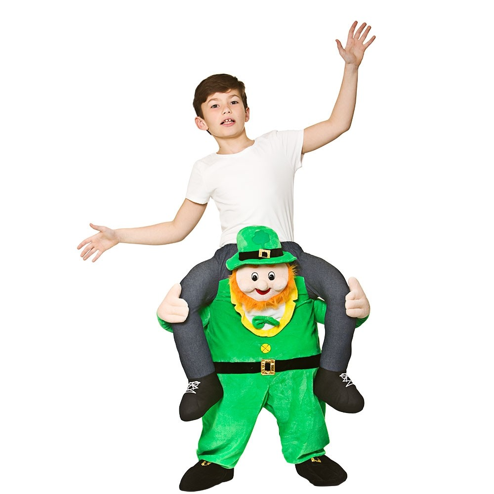 Carry Me® St. Patrick's Day Ride-On Kids Unisex Fancy Dress Costume (8-10years)