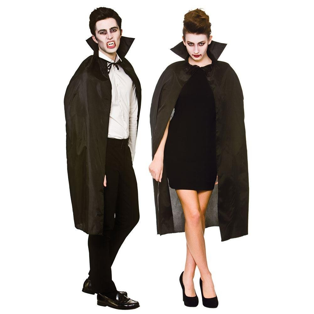 Vampire Cape with Collar Black 100cm Adult Fancy Dress Accessory