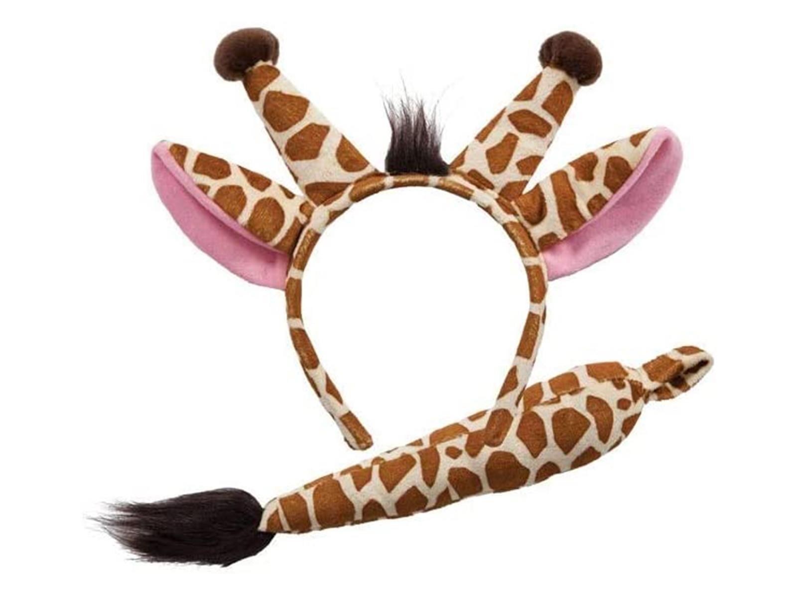 Giraffe Ears & Tail Set Brown One Size Adult Fancy Dress Accessory