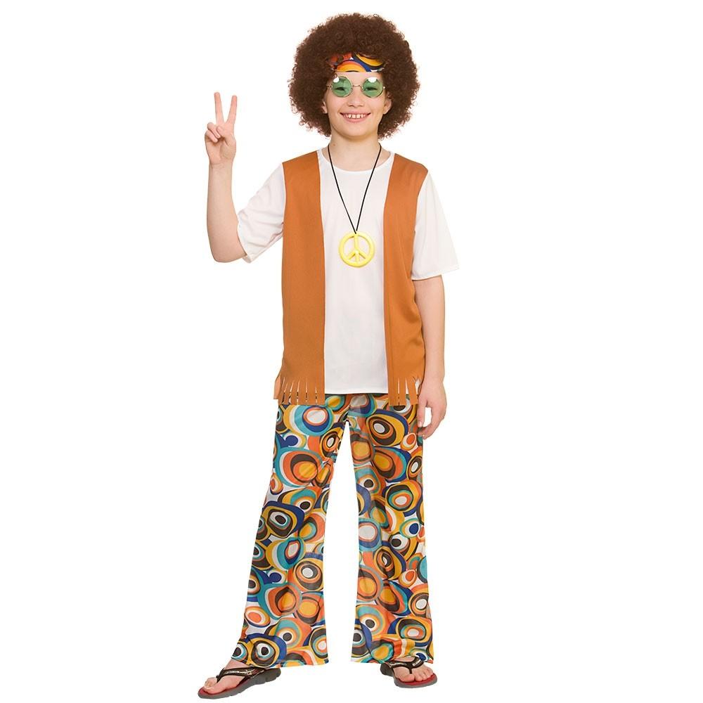 Cool Hippie Boys Fancy Dress Costume