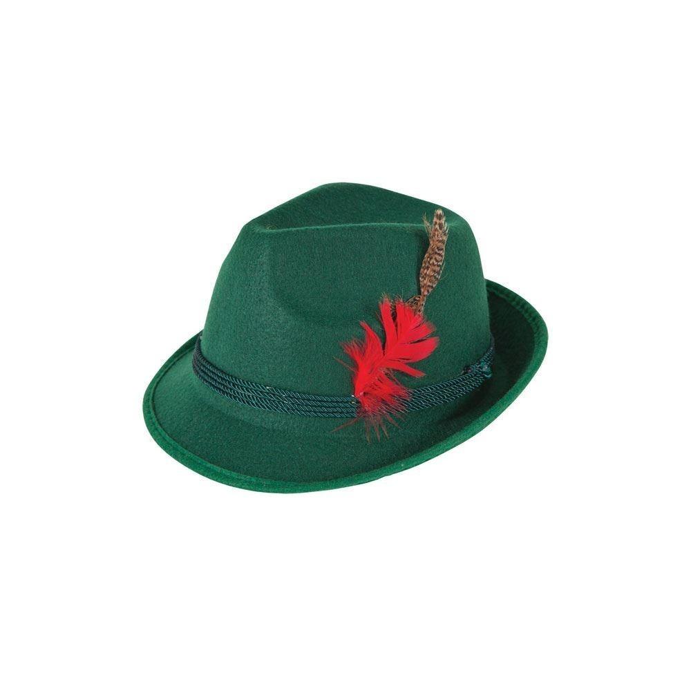 Bavarian / Oktoberfest Hat Green Deluxe Adult Fancy Dress Accessory