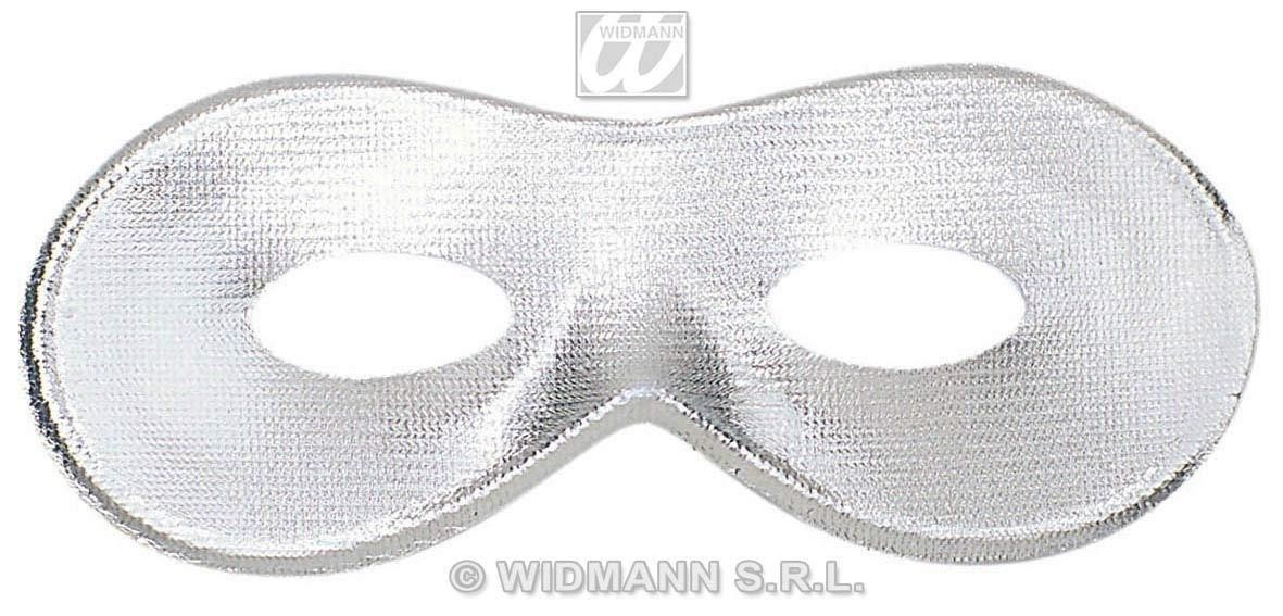 Fiesta Round Eye Mask Silver Adult Fancy Dress Accessory