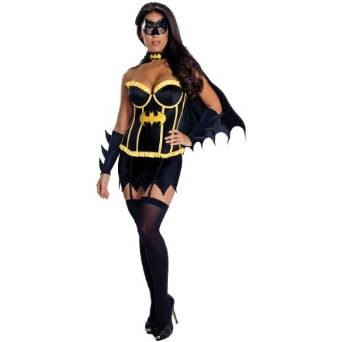 Super Hero Corset Batgirl Adult Licensed Halloween Sexy Costume Cinema Fancy Dress