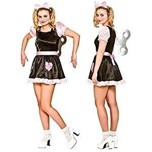 Adult Female Wind Up Doll Fancy Dress Costume