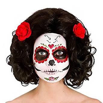 Ladies Day of the Dead Senorita Wig Halloween Fancy Dress