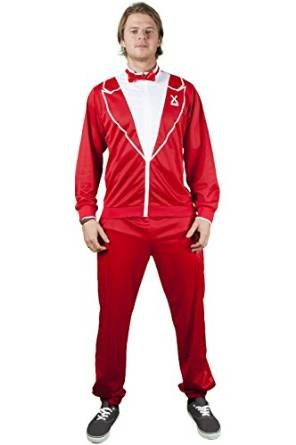Traxedo THE RED DRAGON Costume (Between Tuxedo and a tracksuit) Adult Fancy Dress