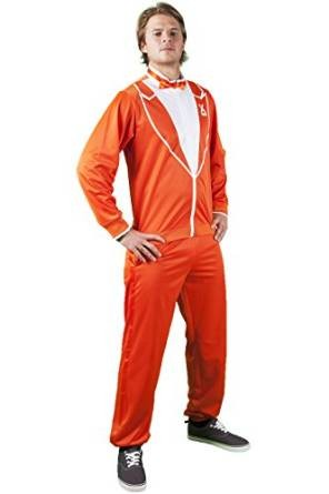 Traxedo THE DUTCHMAN Orange costume (Between Tuxedo and a tracksuit) Adult  Fancy Dress