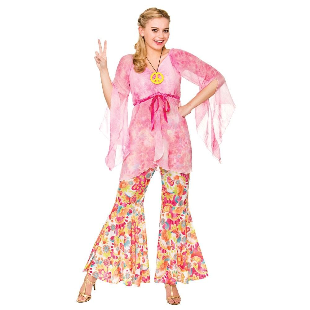 Groovy Hippie Adult Female Fancy Dress