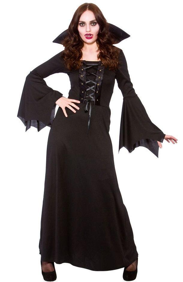 Dark Vampires Womens Halloween Fancy Dress Costume
