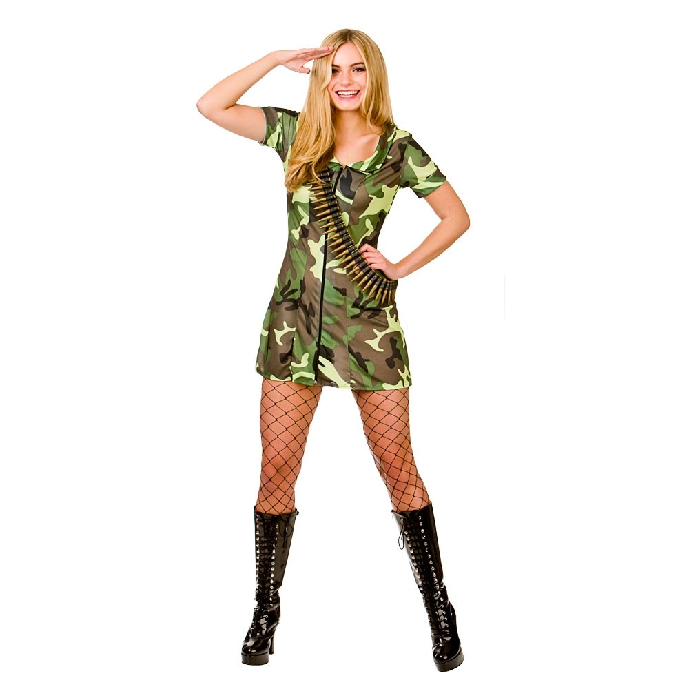 Sexy Army Girl Costume Ladies military Fancy Dress
