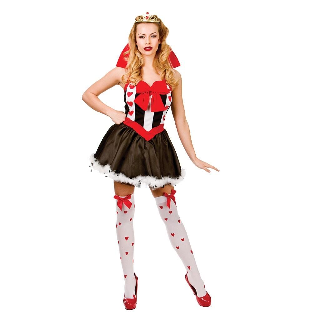 Sexy Queen Of Hearts Costume Ladies TV Fancy Dress