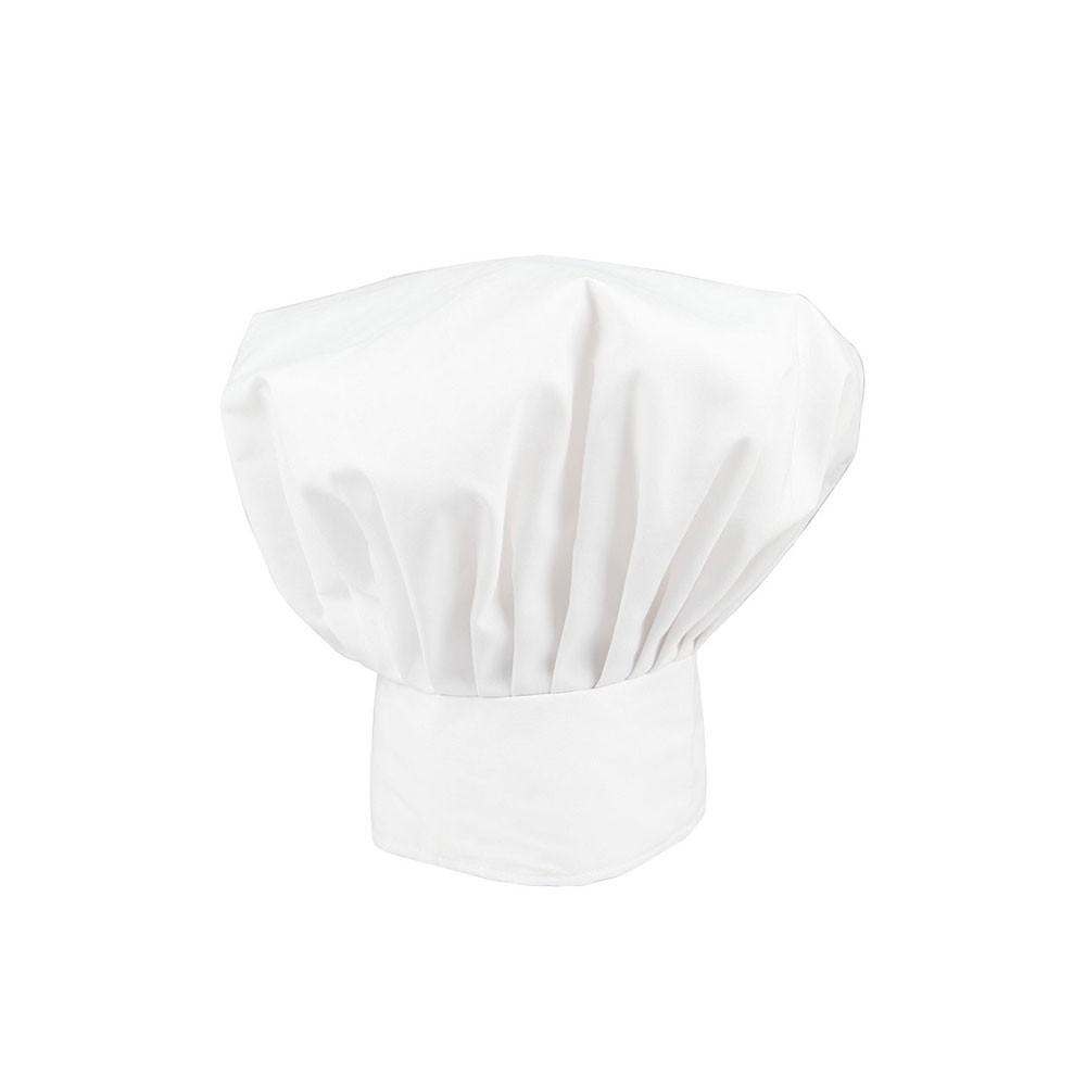 White Chefs Hat Adult Unisex Fancy Dress Accessory