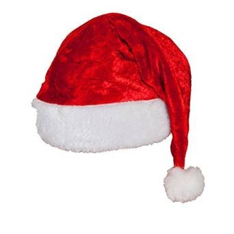 Velvet Santa Hat Outfit Accessory for Christmas Nativity Fancy Dress