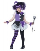 Deluxe Jester Girl Costume Halloween Fancy Dress