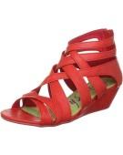 "Blowfish Casita Red UK 3"" Wedge Synthetic Women's Sandal"