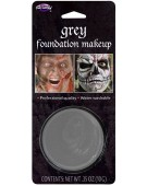 Face Paint Grey Makeup 10gm Blister Halloween Fancy Dress Accessory