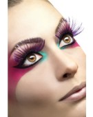 Eyelashes, Large Purple with Metallic Strips Fancy Dress Accessories Costume