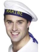 Marine Sailors Hat Fancy Dress Man Costume