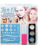 Winter Snowflake Temporary Tattoos Makeup Kit Fancy Dress Accessory