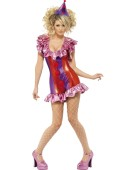 Fever Playtime Clown Costume Woman Sexy Fancy Dress