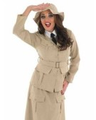 Quality Adult Ladies Safari Explorer Girl Costume Jungle Fancy Dress (Default)