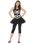 Skeleton Tutu Girl Halloween Fancy Dress Costume