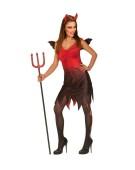 Devil Lady Large UK 14-16  Adult Ladies Fancy Dress Costume