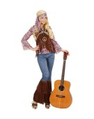 Psychedelic Hippie Woman XLarge 60s 70s Hippy Adult Ladies Fancy Dress Costume