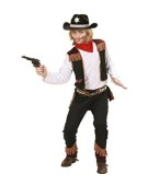 COWBOY 140cm (shirt with vest pants bandana)