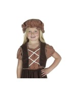 Mob Hat For Peasant Girl Tan fancy dress for children