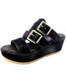 Blowfish Georgie Synthetic Leather Black UK 6 Women's Mules