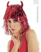 Tinsel Devil with Horns In Polybag Wig for Hair Accessory Fancy Dress