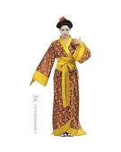 Ladies Kyoto Girl Costume Medium UK 10-12 for Oriental Chinese Fancy Dress