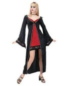 Sexy Vampiress Halloween Costume Womens One Size Fancy Dress