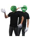 Emoji Monster Halloween Emotion Set Green Adult Fancy Dress Costume